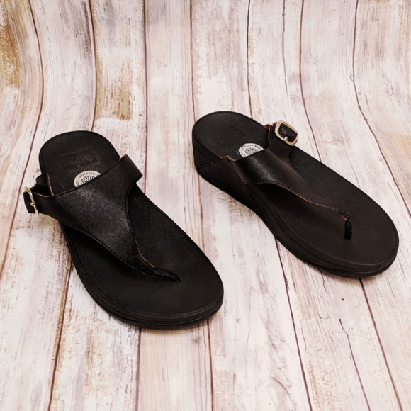 b68f41e6c Fitflop Shoes - Fitflop Black The Skinny Flip-Flop Size 6